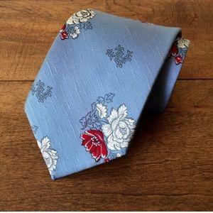 Vintage RAM Floral Wide Polyester Tie
